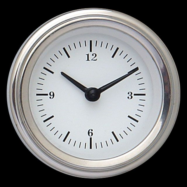 "Picture of White Hot 2 1/8"" Clock"