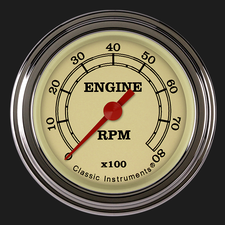"Picture of Vintage 2 1/8"" Tachometer"