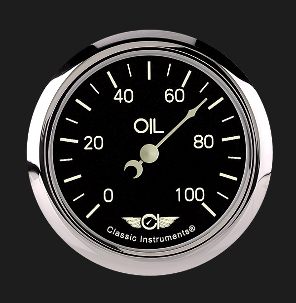 "Picture of Classic Series 2 5/8"" Oil Pressure Gauge"