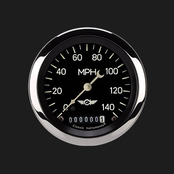"Picture of Classic Series 3 3/8"" Speedometer"