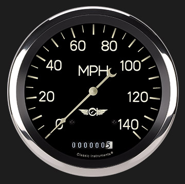 "Picture of Classic Series 4 5/8"" Speedometer"
