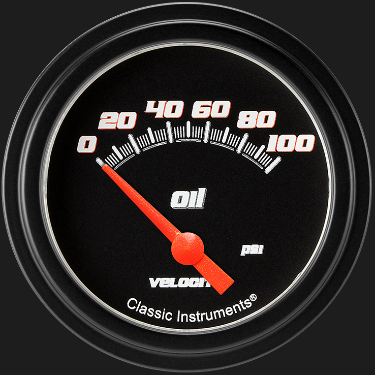 "Picture of Velocity Black 2 5/8"" Oil Pressure Gauge"