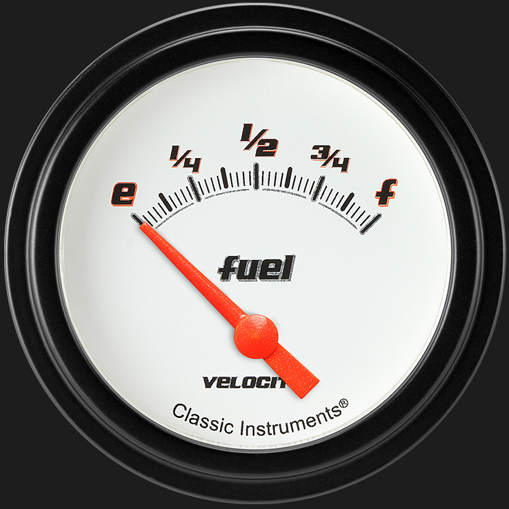 "Picture of Velocity White 2 5/8"" Fuel Gauge"