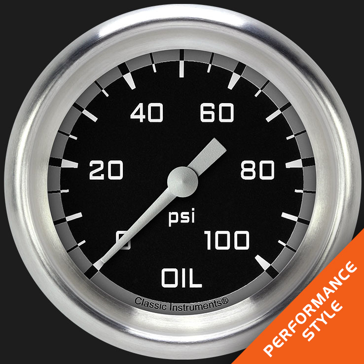 "Picture of Autocross Gray 2 5/8"" Oil Pressure Gauge"