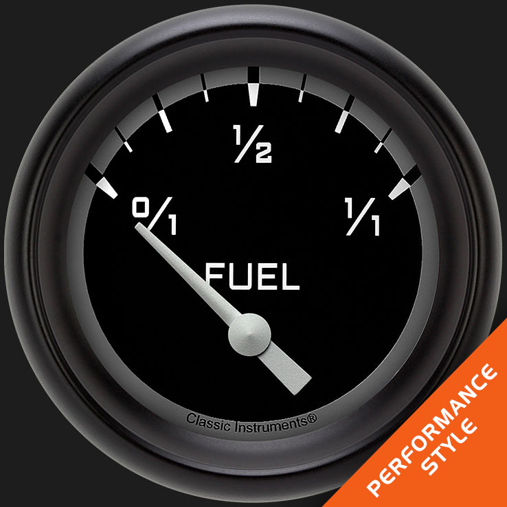 "Picture of Autocross Gray 2 5/8"" Fuel Gauge, 0-90 ohm"
