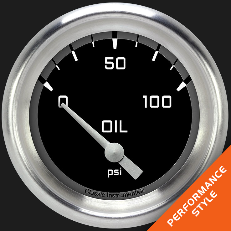 """Picture of Autocross Gray 2 5/8"""" Oil Pressure Gauge"""