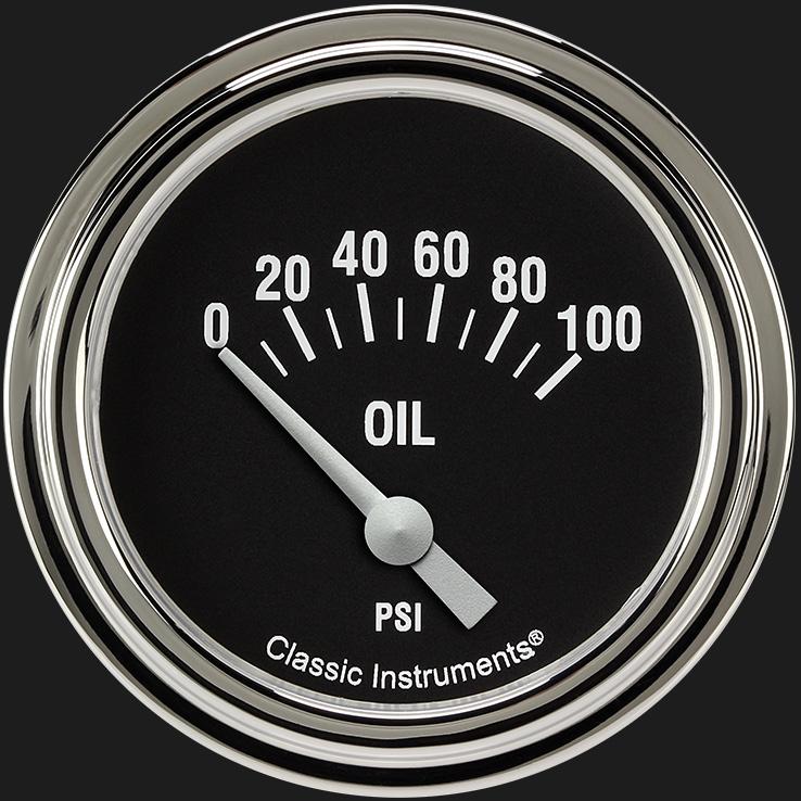 "Picture of Hot Rod 2 5/8"" Oil Pressure Gauge"