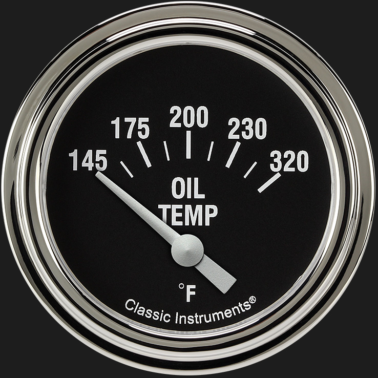 "Picture of Hot Rod 2 5/8"" Oil Temperature Gauge"