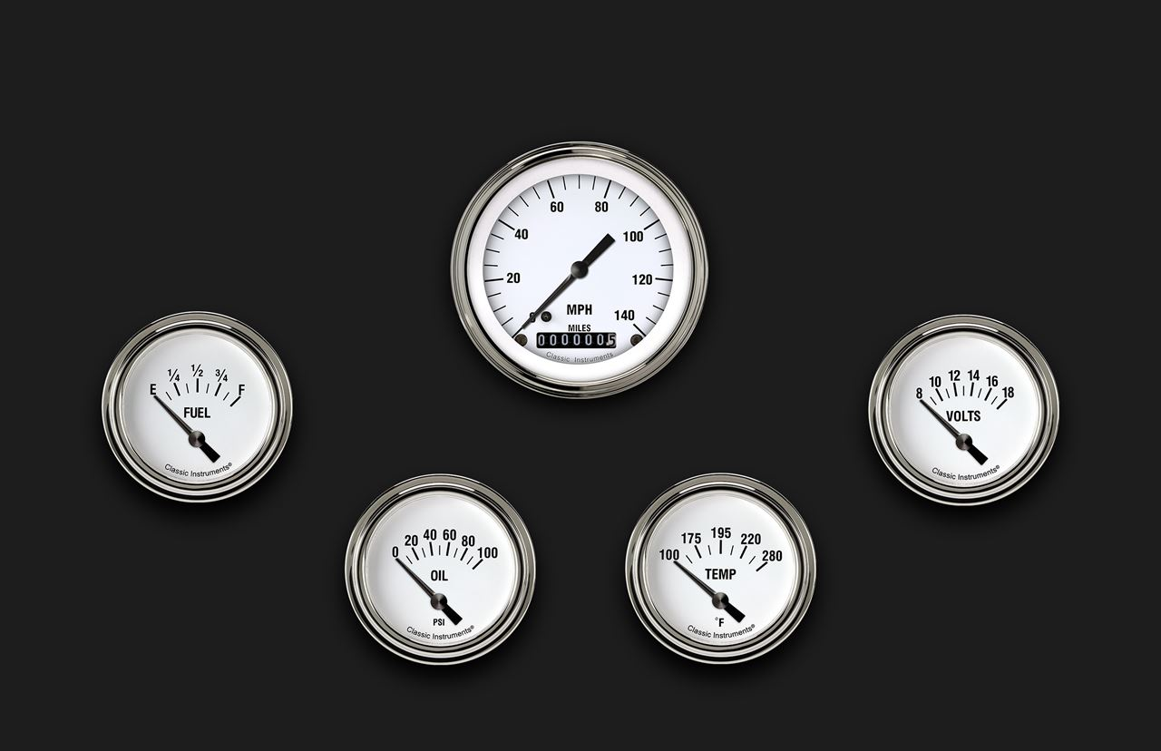 Picture of White Hot Five Gauge Set 200