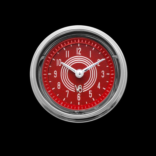 "Picture of V8 Red Steelie 2 1/8"" Clock"