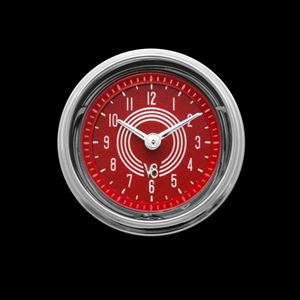 """Picture of V8 Red Steelie 2 1/8"""" Clock"""