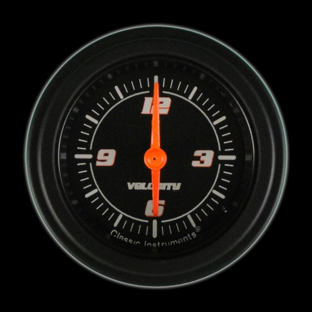 "Picture of Velocity Black 2 1/8"" Clock"