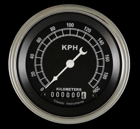 "Picture of Traditional 3 3/8"" Speedometer"