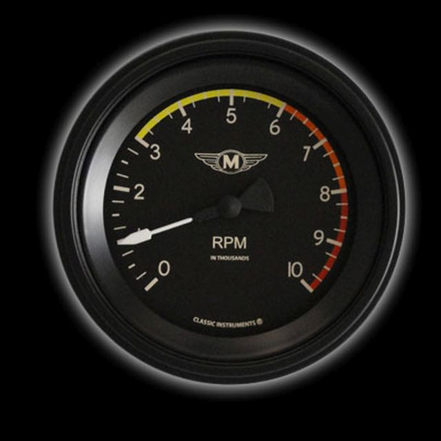 """Picture of Moal Bomber 3 3/8"""" Tachometer"""