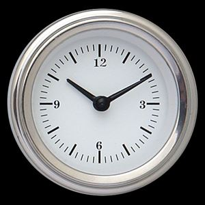 """Picture of White Hot 2 1/8"""" Clock"""