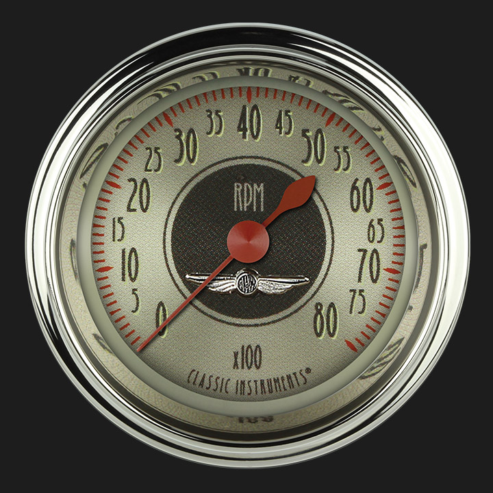 """Picture of All American Nickel 2 1/8"""" Tachometer"""