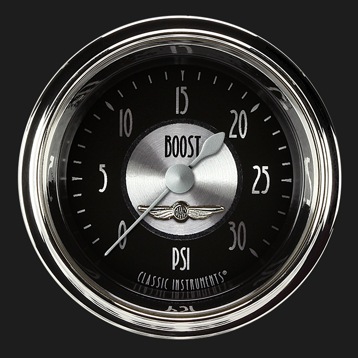 """Picture of All American Tradition 2 1/8"""" Boost Gauge, 30 psi"""
