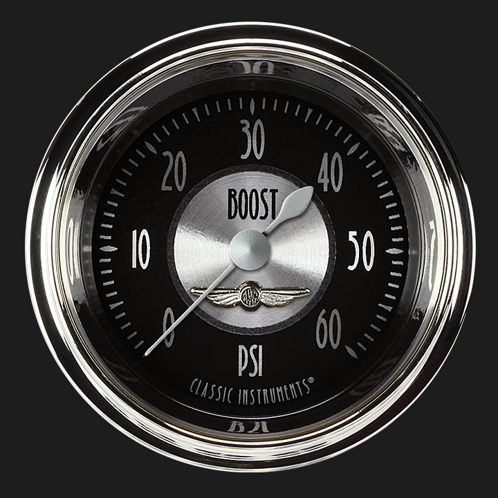 """Picture of All American Tradition 2 1/8"""" Boost Gauge, 60 psi"""