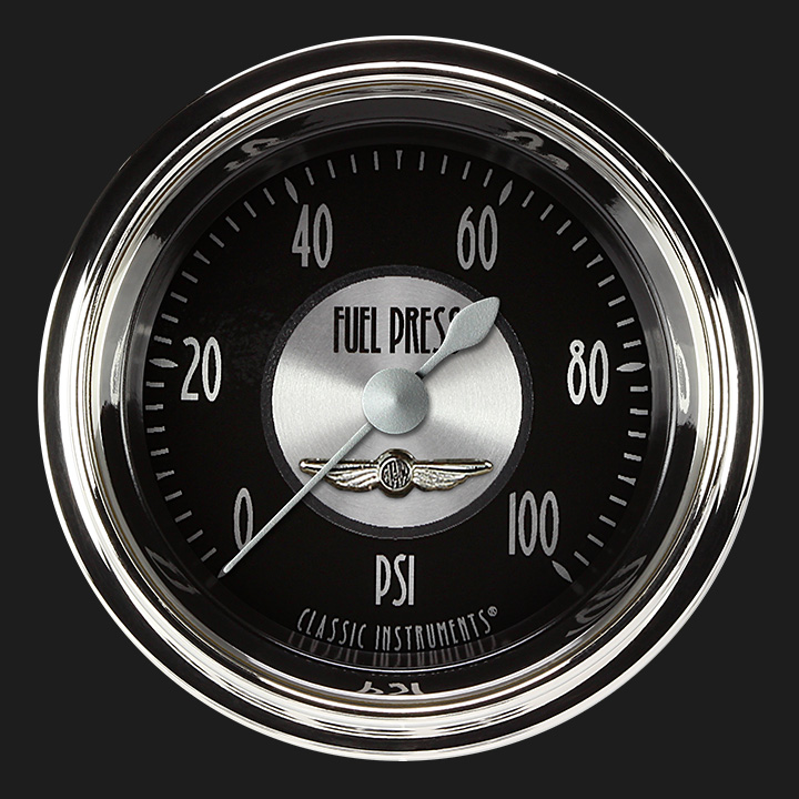 """Picture of All American Tradition 2 1/8"""" Fuel Pressure Gauge, 100 psi"""