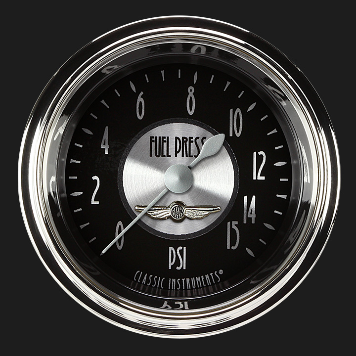 """Picture of All American Tradition 2 1/8"""" Fuel Pressure Gauge, 15 psi"""