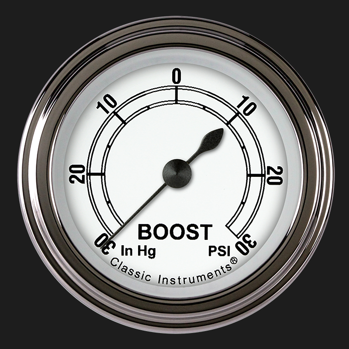 """Picture of Classic White 2 1/8"""" Boost/Vac Gauge"""