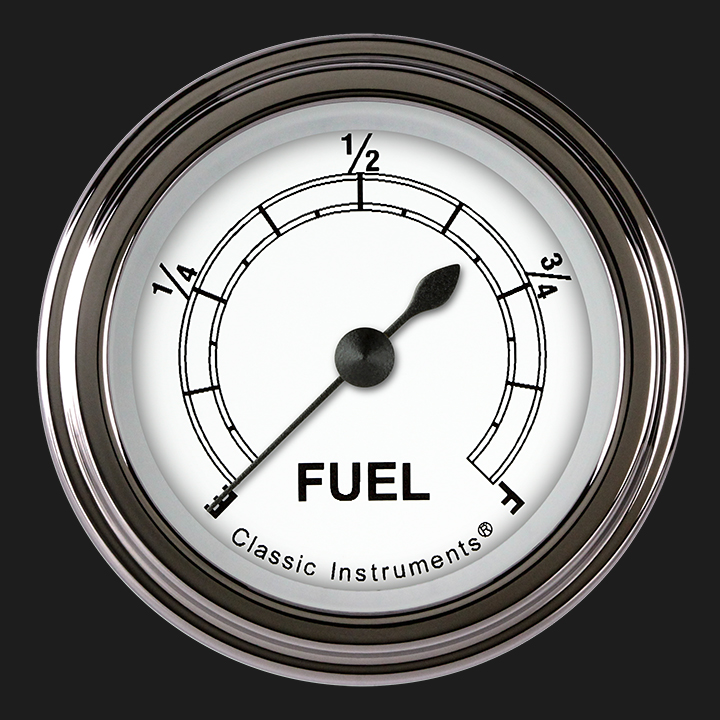 """Picture of Classic White 2 1/8"""" Fuel Gauge"""