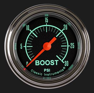"""Picture of G/Stock 2 1/8"""" Boost Gauge, 30 psi"""