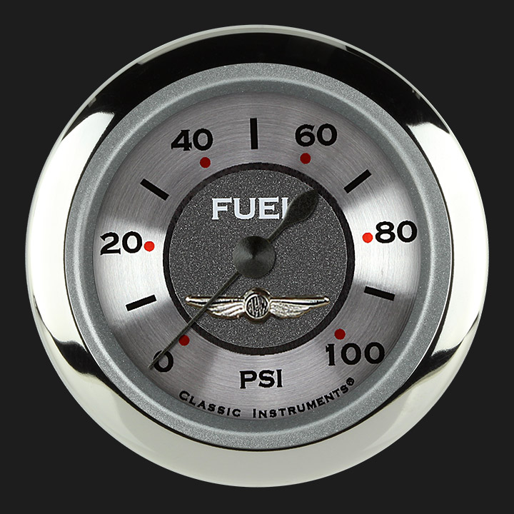 "Picture of All American 2 1/8"" Fuel Pressure Gauge, 100 psi"