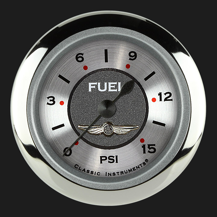 "Picture of All American 2 1/8"" Fuel Pressure Gauge, 15 psi"