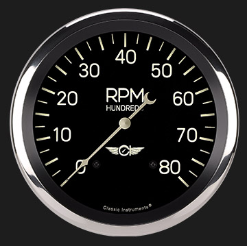 "Picture of Classic Series 4 5/8"" Tachometer"