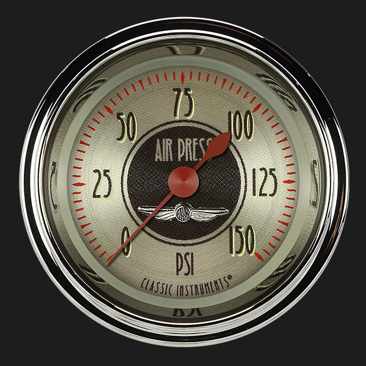 """Picture of All American Nickel 2 1/8"""" Air Pressure Gauge"""