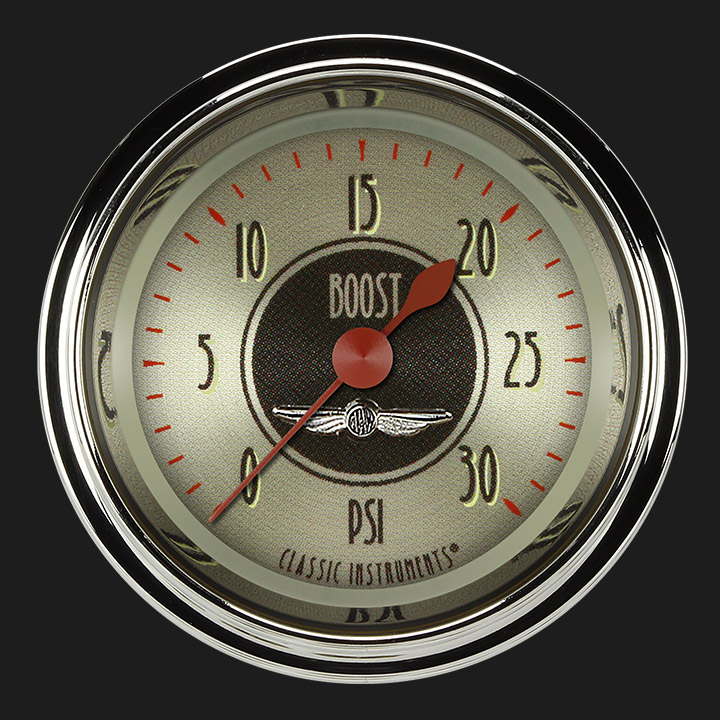 """Picture of All American Nickel 2 1/8"""" Boost Gauge, 30 psi"""