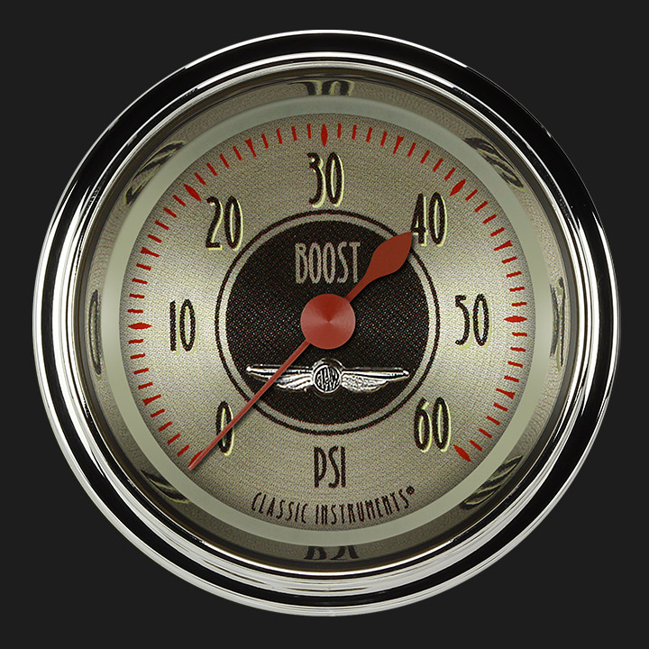 """Picture of All American Nickel 2 1/8"""" Boost Gauge, 60 psi"""