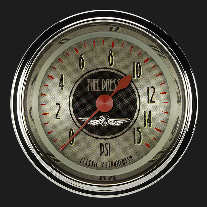 "Picture of All American Nickel 2 1/8"" Fuel Pressure Gauge, 15 psi"