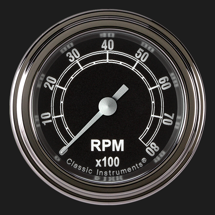 """Picture of Traditional 2 1/8"""" Tachometer"""