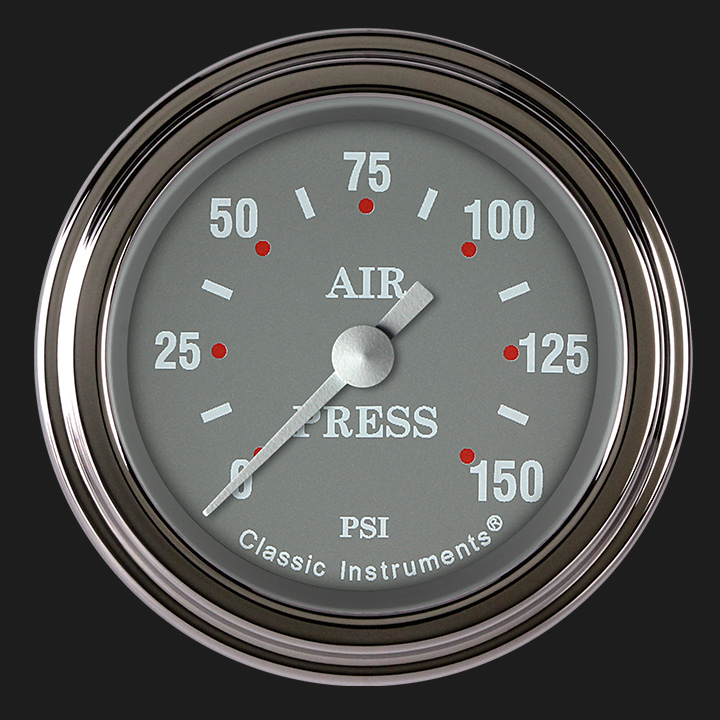 """Picture of Silver Gray 2 1/8"""" Air Pressure Gauge"""
