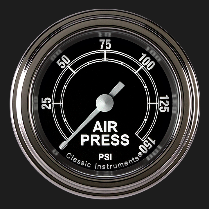 """Picture of Traditional 2 1/8"""" Air Pressure Gauge"""