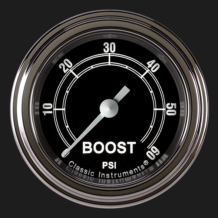 """Picture of Traditional 2 1/8"""" Boost Gauge, 60 psi"""