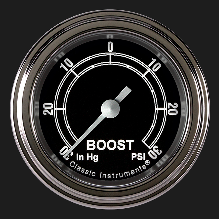 """Picture of Traditional 2 1/8"""" Boost/Vac Gauge"""
