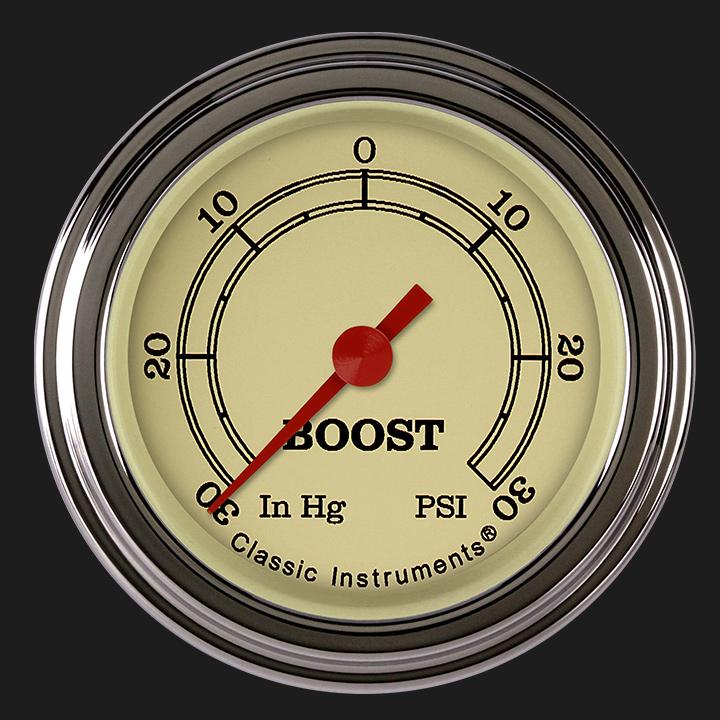 "Picture of Vintage 2 1/8"" Boost/Vac Gauge"