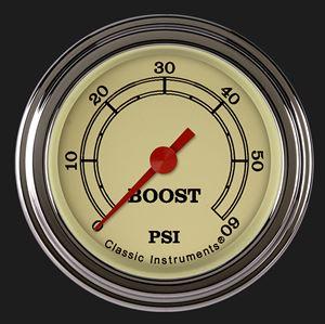 "Picture of Vintage 2 1/8"" Boost Gauge, 60 psi"