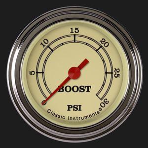 "Picture of Vintage 2 1/8"" Boost Gauge, 30 psi"