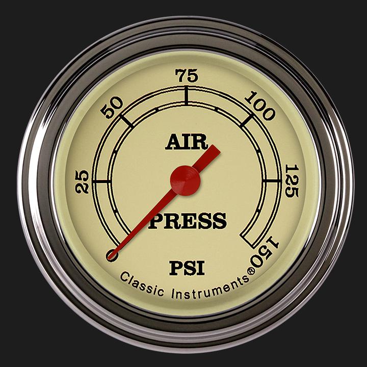 """Picture of Vintage 2 1/8"""" Air Pressure Gauge"""