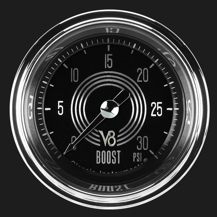 """Picture of V8 Speedster 2 1/8"""" Boost Gauge, 30 psi"""