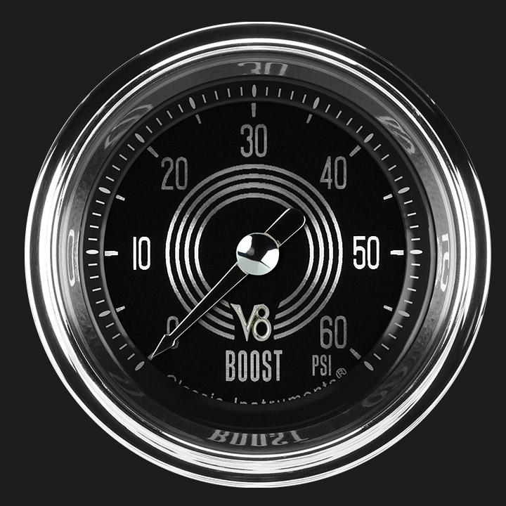 """Picture of V8 Speedster 2 1/8"""" Boost Gauge, 60 psi"""
