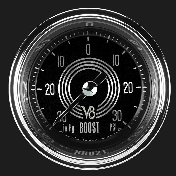 """Picture of V8 Speedster 2 1/8"""" Boost/Vac Gauge"""