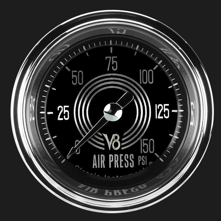"""Picture of V8 Speedster 2 1/8"""" Air Pressure Gauge"""