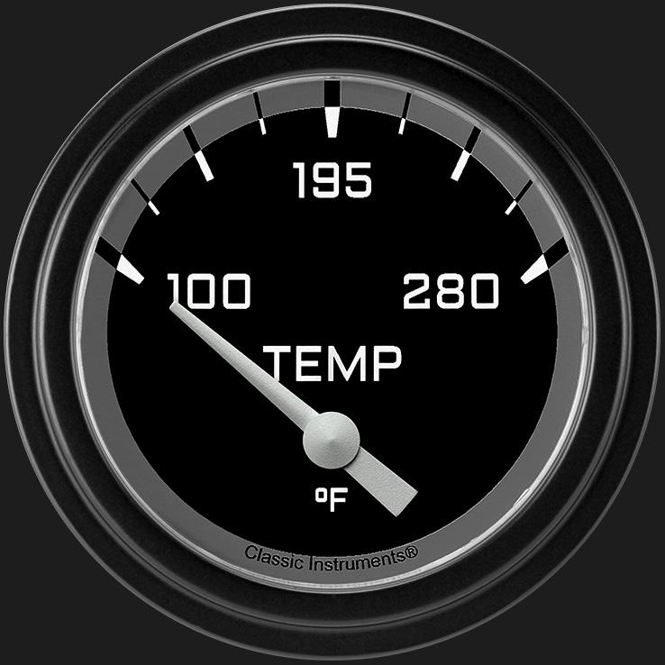 "Picture of Autocross Gray 2 5/8"" Water Temperature Gauge"