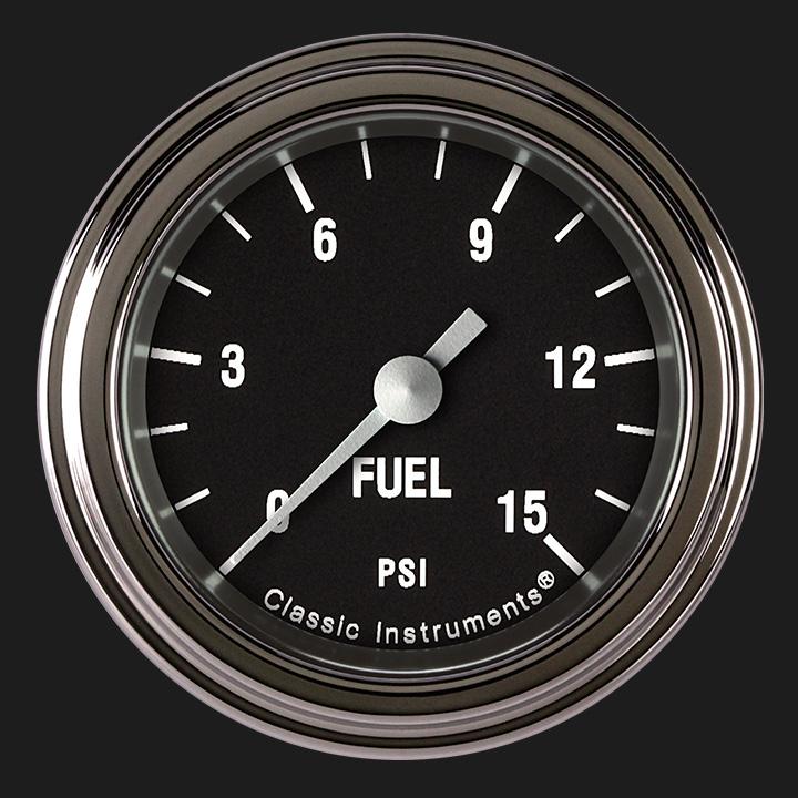 "Picture of Hot Rod 2 1/8"" Fuel Pressure Gauge, 15 psi"
