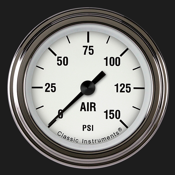 """Picture of White Hot 2 1/8"""" Air Pressure Gauge"""